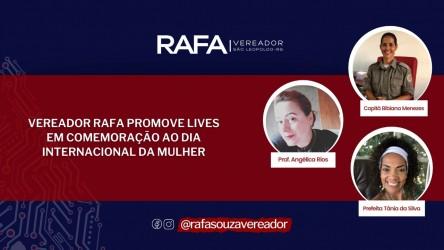 Rafa Souza realiza LIVE para homenagear  Dia Internacional da Mulher