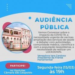 Iara Cardoso convoca Audiência Pública  para discutir a COVID – 19 no Município