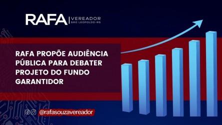 """Câmara realiza Audiência Pública para  discutir o """"Fundo Municipal de Garantia"""""""