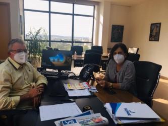 Prefeito Ary Vanazzi recebe vereadora Iara Cardoso em seu gabinete