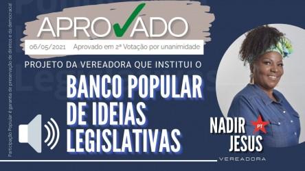 Banco Popular de Ideias Legislativas é aprovado pela Câmara