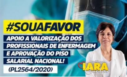 Vereadora Iara apoia a valorização  dos profissionais da enfermagem