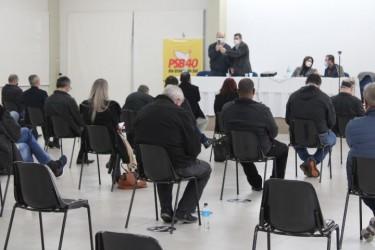 Vereador Lemos na reunião estadual do PSB