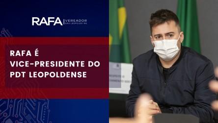 Rafa Souza é vice-presidente do PDT leopoldense