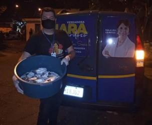 Vereadora Iara Cardoso realiza o lanche solidário