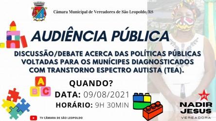 Audiência promove debates para cidadãos com transtorno espectro autista