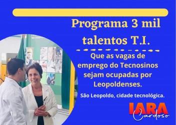 Vereadora Iara Cardoso participa do lançamento do Programa 3 Mil Talentos