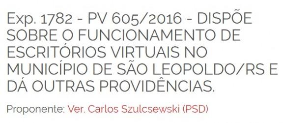 Vereador Dr. Carlos Szulcsewski tem projeto de Lei que regulamenta escritórios virtuais aprovado
