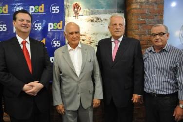 Vereador Júlio Galperim participa de ato de filiação do senador Lasier Martins ao PSD