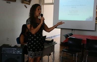 Ana Affonso participa da preparação do 8 de março