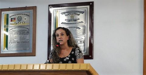 Ana Affonso critica os governos de Temer e de Sartori em seu discurso na abertura do ano legislativo
