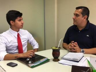 Busca de informações com o Secretário de Desenvolvimento