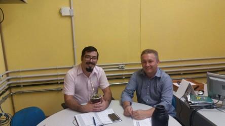 Fabiano Haubert visita o secretário Ismael Mendonça