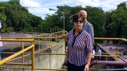 Iara Cardoso participa das visitas as Estações de Tratamento de Esgoto