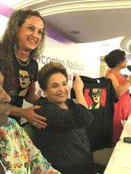 Ana Affonso faz homenagem à Dilma, durante o 2º Encontro Nacional de Mulheres eleitas pelo PT