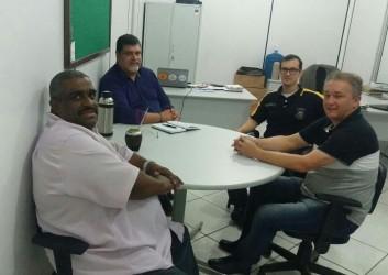 Fabiano Haubert visita secretário da segurança