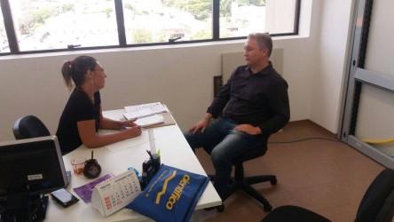 As reuniões do Orçamento Participativo na pauta da visita de Fabiano Haubert