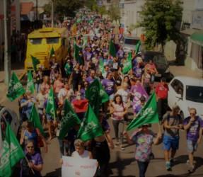 Trabalhadores de São Leopoldo marcham para barrar a reforma da previdência