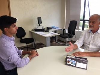 O vereador David Santos  leva questões à Secretaria da Fazenda