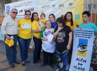 Júlio Galperim e Apae realizam ação alusiva ao Dia Internacional da Síndrome de Down