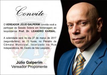 Leandro Karnal estará em São Leopoldo à convite do vereador Júlio Galperim
