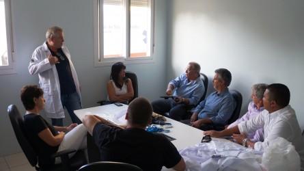 Júlio Galperim - Visita na UPA Scharlau