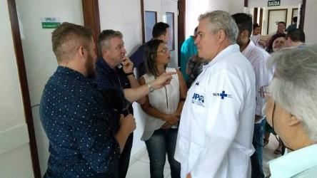 Dudu Moraes acompanha prefeito Vanazzi durante vistoria na UPA Scharlau