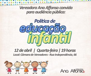 Ana Affonso afirma que audiência pública possibilitará a discussão das políticas de Educação Infantil de São Leopoldo