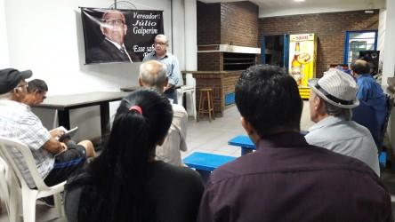 Moradores do bairro Rio dos Sinos pedem apoio a Júlio Galperim