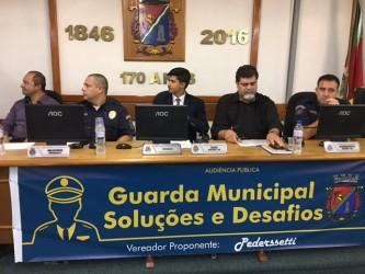 Audiência  discute situação da Guarda Municipal
