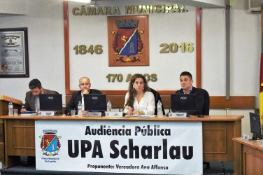 audiência pública UPA Scharlau