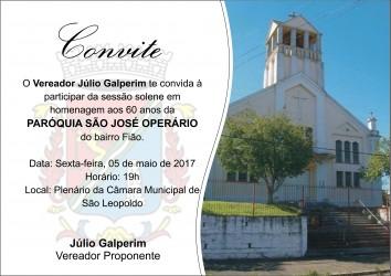 Paróquia São José Operário será homenageada na Câmara Municipal