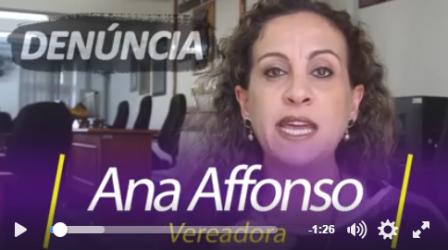 Ana Affonso denuncia ex-prefeito Moa