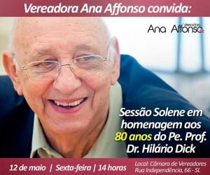 SÃO LEOPOLDO HOMENAGEARÁ PADRE HILÁRIO EM SESSÃO SOLENE, NA PRÓXIMA SEXTA-FEIRA (12/5)
