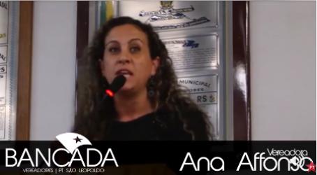 Ana Affonso fala do processo eleitoral do PT em São Leopoldo e no Rio Grande do Sul