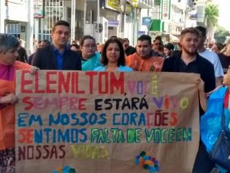 Dudu Moraes participa da Caminhada pela Luta Antimanicomial, dia 18 de maio, na Rua Grande