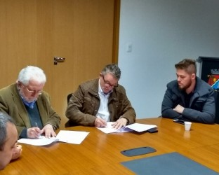 Dudu Moraes participou da reunião que firmou parceria entre município e Unisinos para instalação do Curso de Medicina