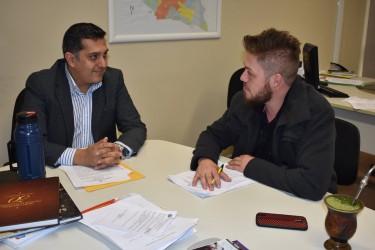 Dudu Moraes busca parceria com a SEDETEC para o projeto das Hortas Comunitárias