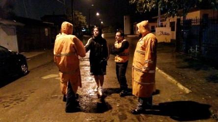 Dudu Moraes acompanha trabalho da Defesa Civil na zona norte de São Leopoldo, devido à chuva intensa