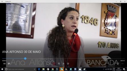 Ana Affonso sugere moção de repúdio pela atitude do humorista Danilo Gentili contra deputada Maria do Rosário