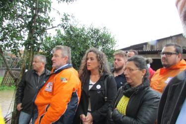Vereadora Ana Affonso participa de inspeção às regiões atingidas pelas cheias