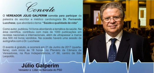 Fernando Lucchese fará palestra gratuita em São Leopoldo