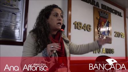 Ana Affonso comemora a vitória em votação no Senado contra a reforma trabalhista