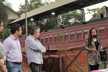 Ana Affonso ressalta a importância das obras no Museu do Trem