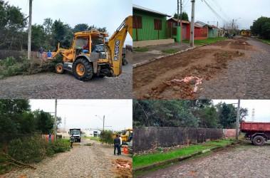 Após pedidos de providência, Dudu Moraes acompanha obras na Rua Sulina, no Bairro Scharlau