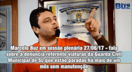 Marcelo Buz denuncia abandono de viaturas da Guarda Civil Municipal em Rua de São Leopoldo