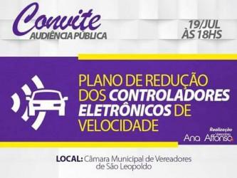 Ana Affonso propõe audiência pública sobre redução dos radares em São Leopoldo e a economia gerada aos cofres do município
