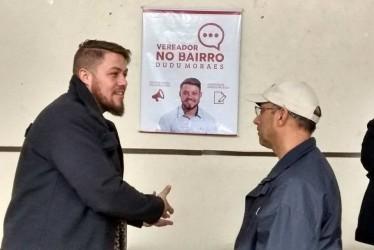Dudu Moraes visita Associação dos Moradores Vila Brás, com o projeto Vereador no Bairro