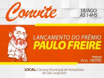 Prêmio Paulo Freire - Mestre Cidadão, de autoria da vereadora Ana Affonso, será lançado na sexta-feira