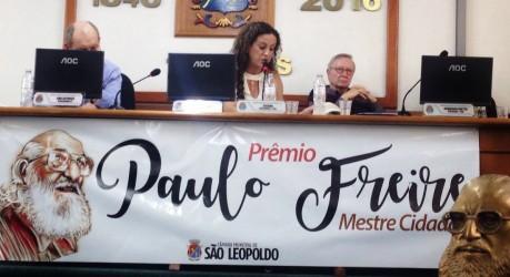 Ana Affonso considera o Prêmio Paulo Freire uma forma de esperança em relação à educação e de resistência aos retrocessos políticos